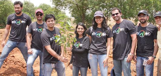 Google employess are planting trees at Kanha Shantivanam