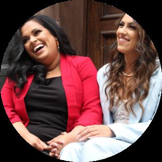 Annika Sharma & Nehal Tenany laughing