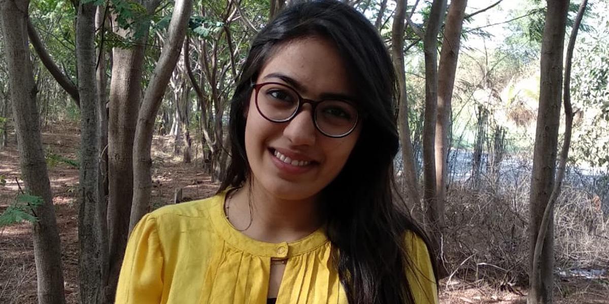 Disha Joshi is smiling
