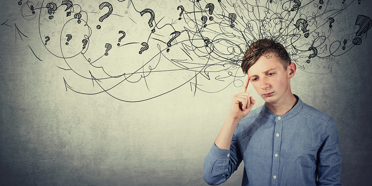 man tries to stop overthinking by doing heartfulness meditation