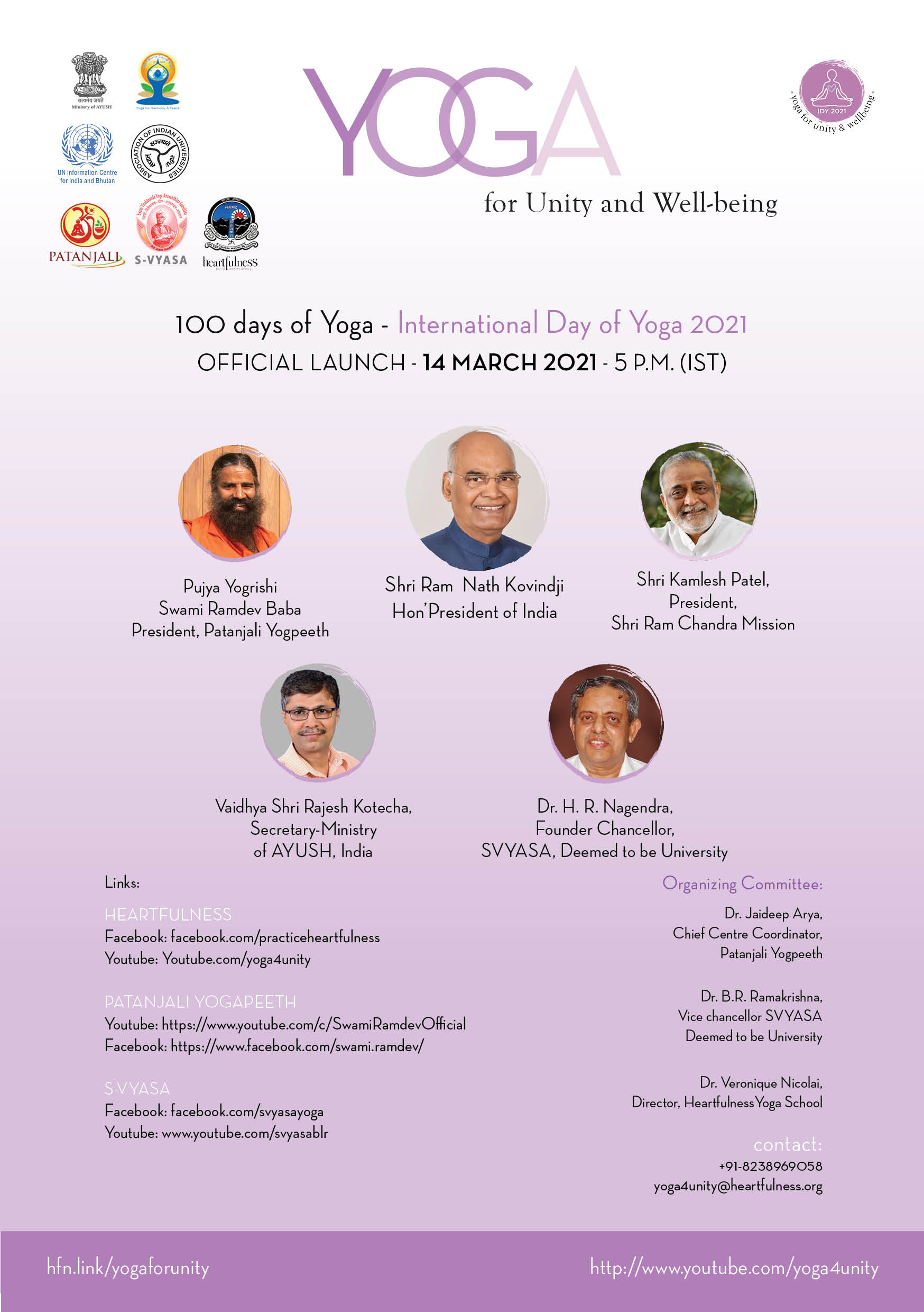 100 days of yoga offical launch
