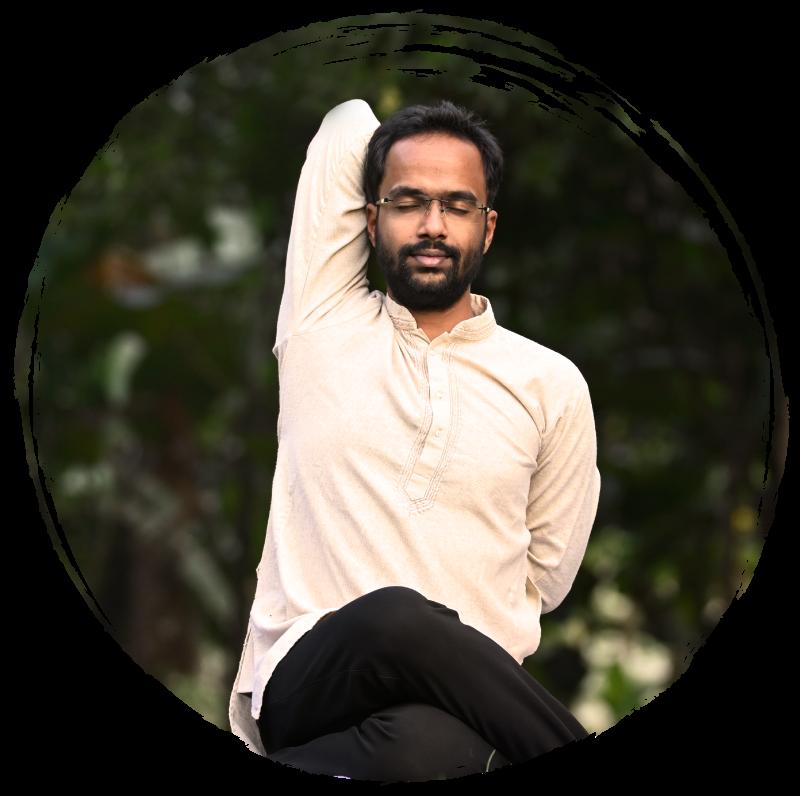 ankur naik is doing heartfulness yoga