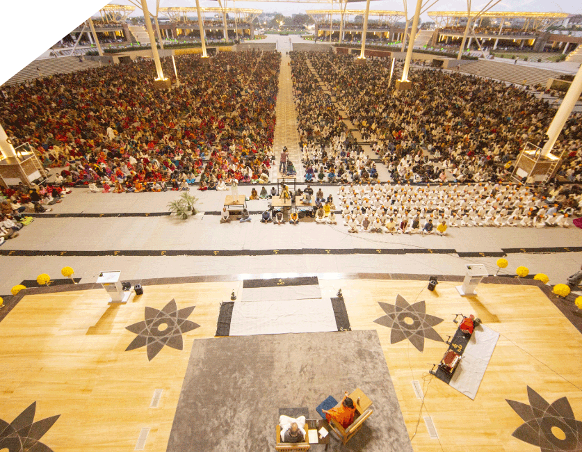View of the Largest meditation Hall