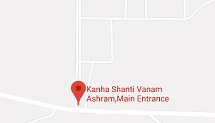 kanha shanti vanam address in google map