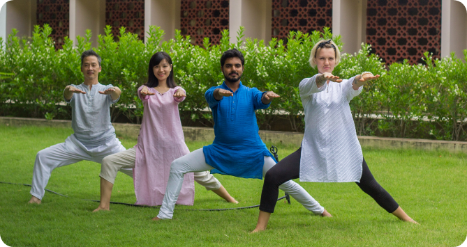 youth practicing heartfulness yoga
