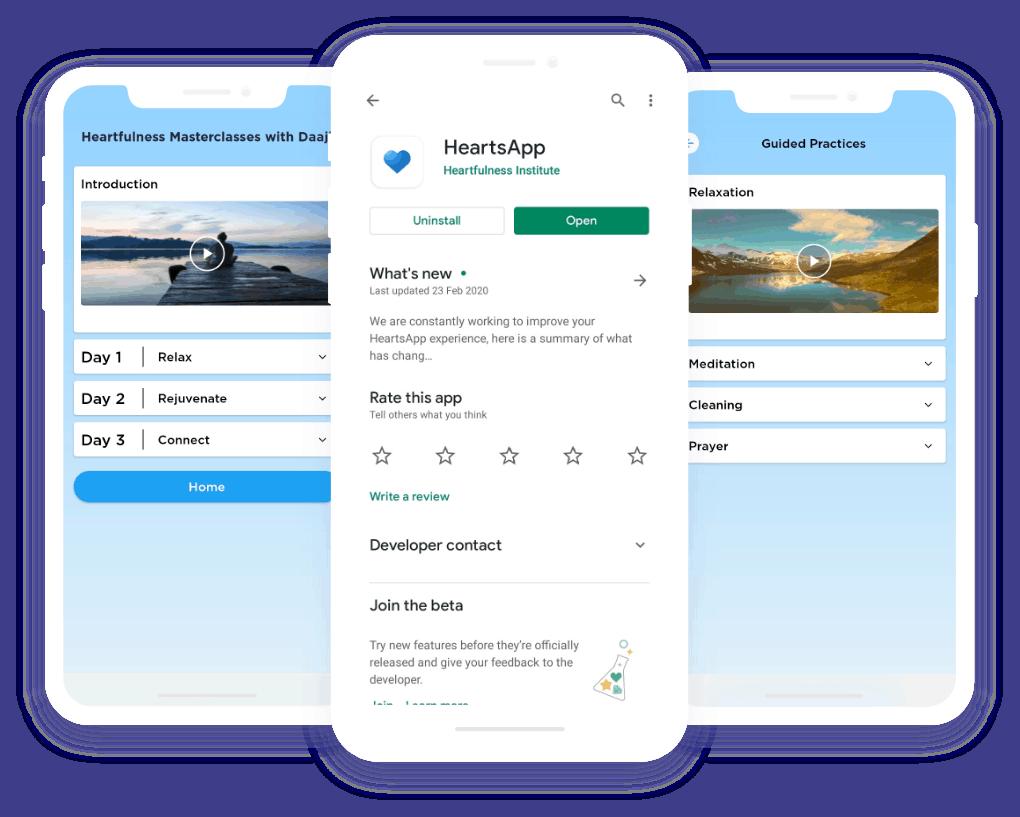 heartsapp, meditation mobile app