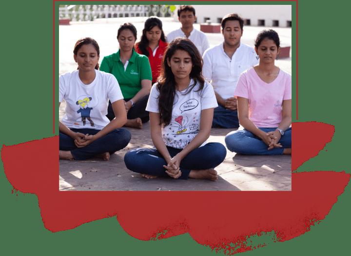 children doing heartfulness meditation