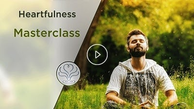 man is doing heartfulness meditation
