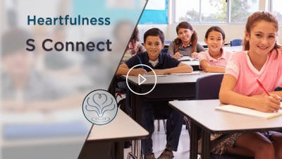 Children from heartfulness S- connect are laughing